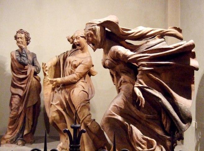 Details from Compianto sul Cristo morto by Niccolò dell'Arca