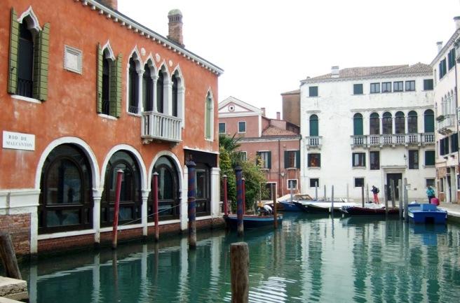 Canal beside café