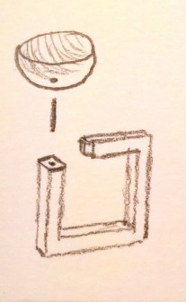 Diagram of metal pin placement