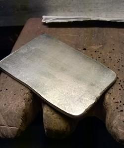 Sterling silver slab