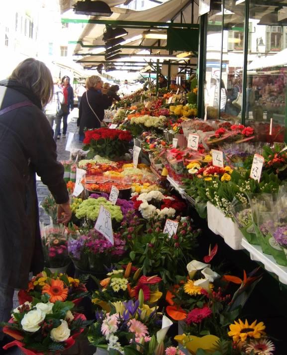 Bolzano flower market