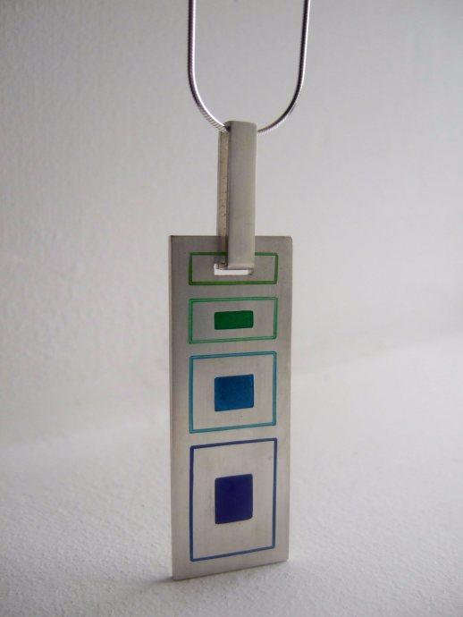 enamel-silver-geo-pendant