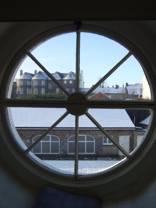 View of butler house from studio